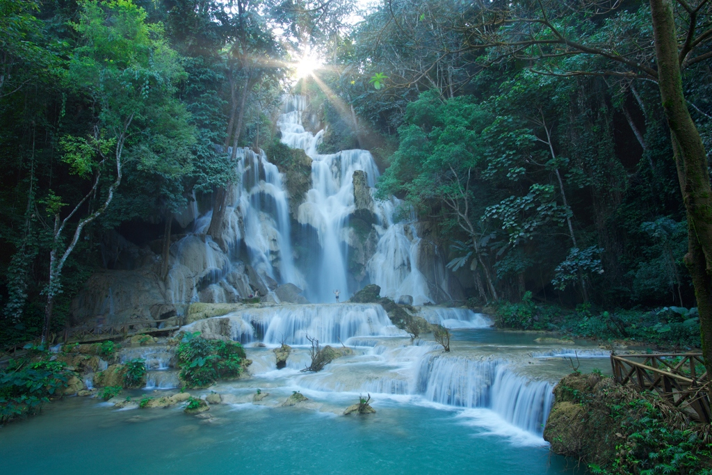 Kuang Si waterfall of Laos