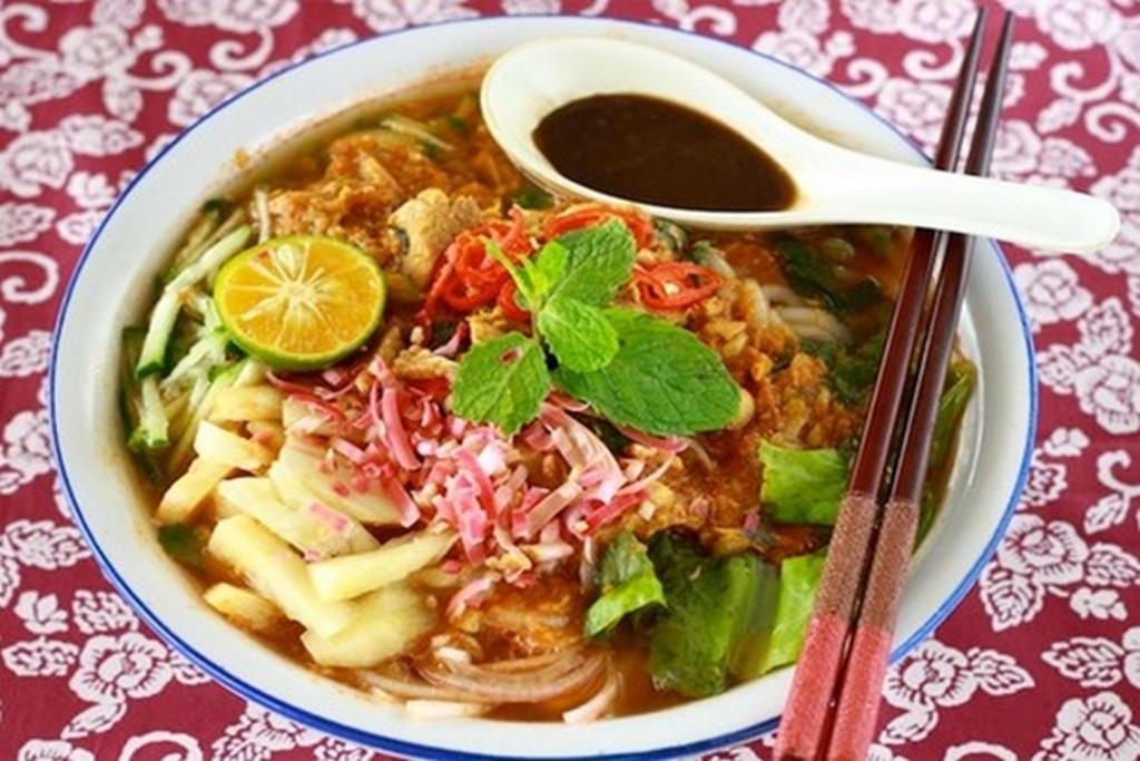 Asam Laska noodle, Penang food, Malaysia