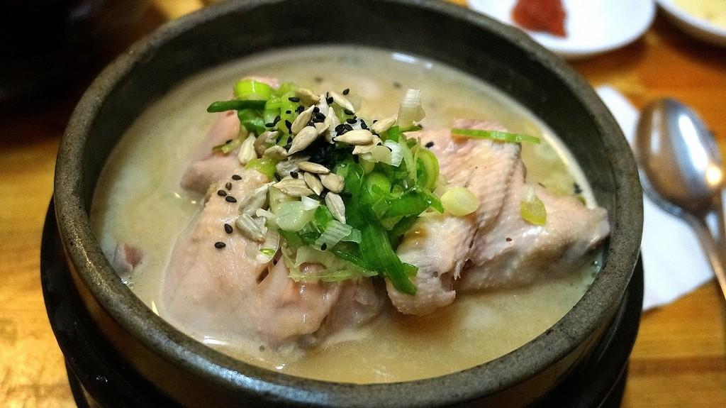 Samgyetang, street food, seoul, korea