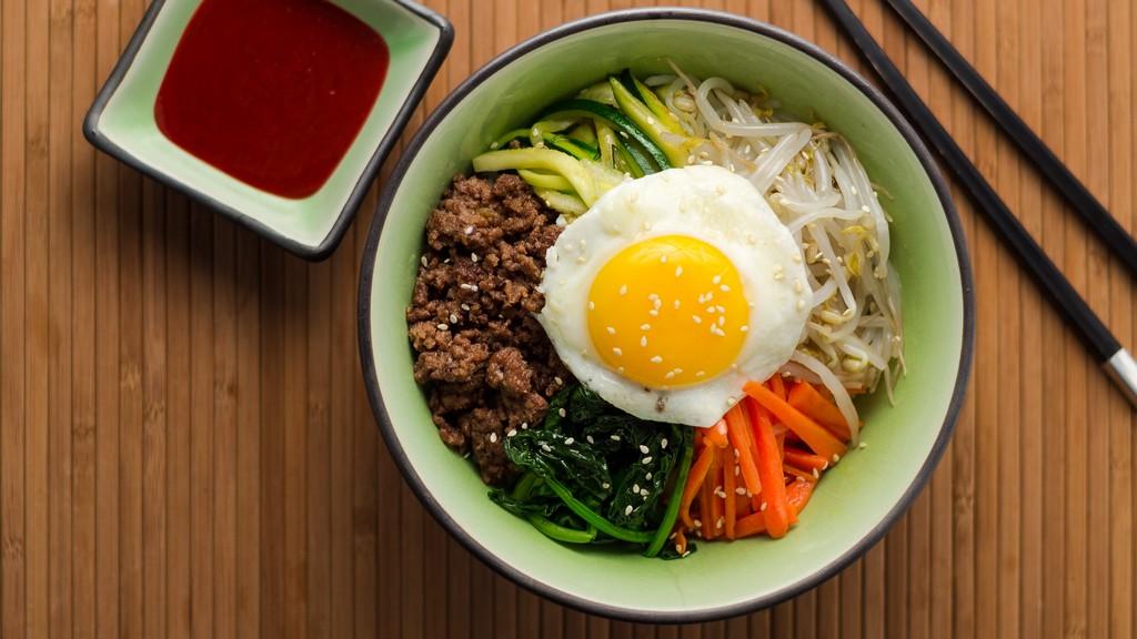 bibimbap, street food, seoul, korea