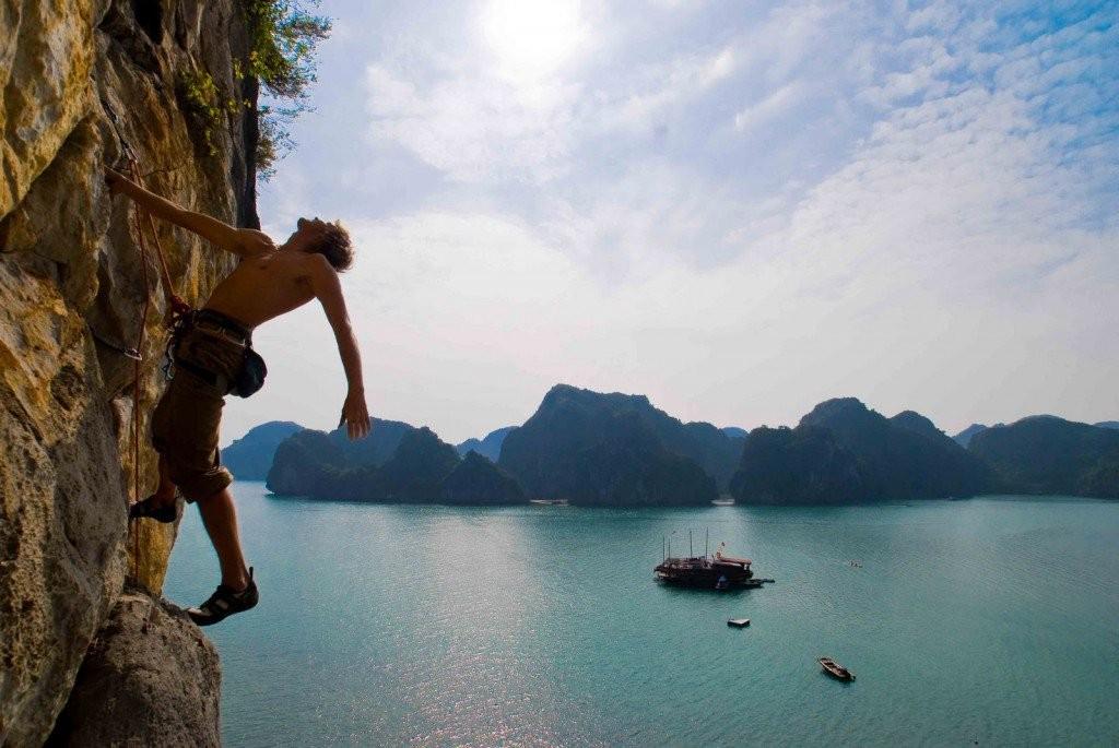 climb, halong bay, vietnam