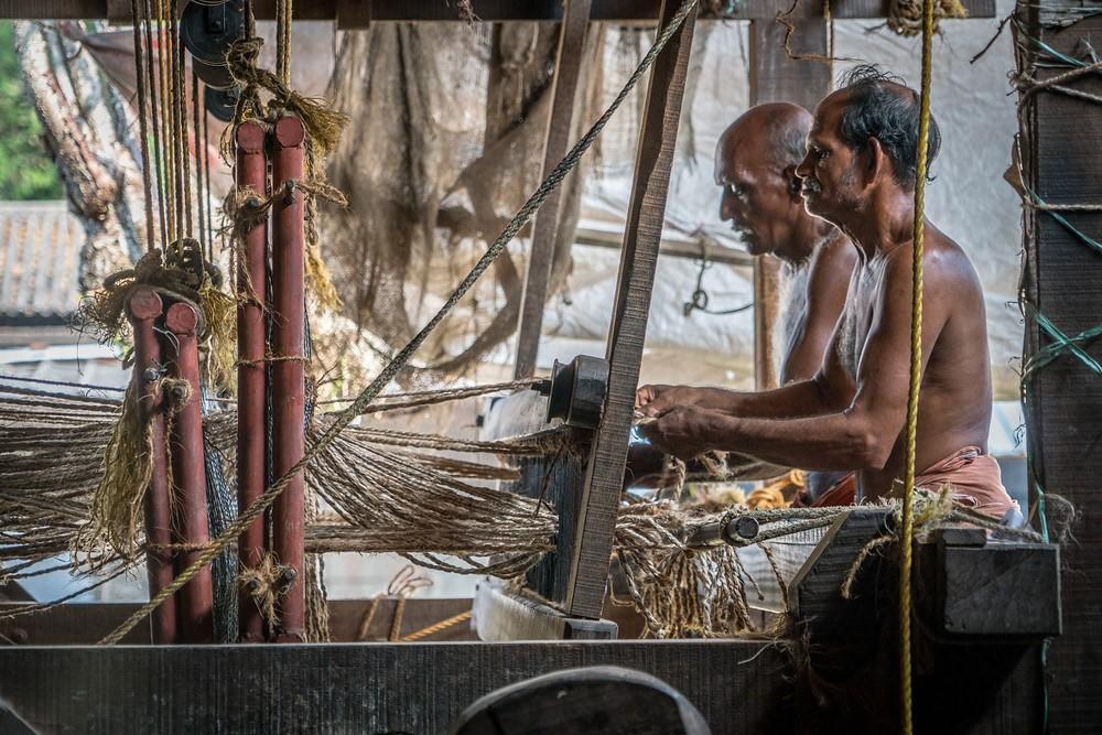 coir, everyday life, Kerala, India