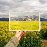 Traveler creates watercolor paintings landscape beautiful more than real photo