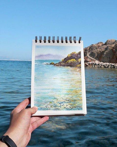 elenae fremova aritst watercolor paintings facebook instagram photos st peterberg (1)