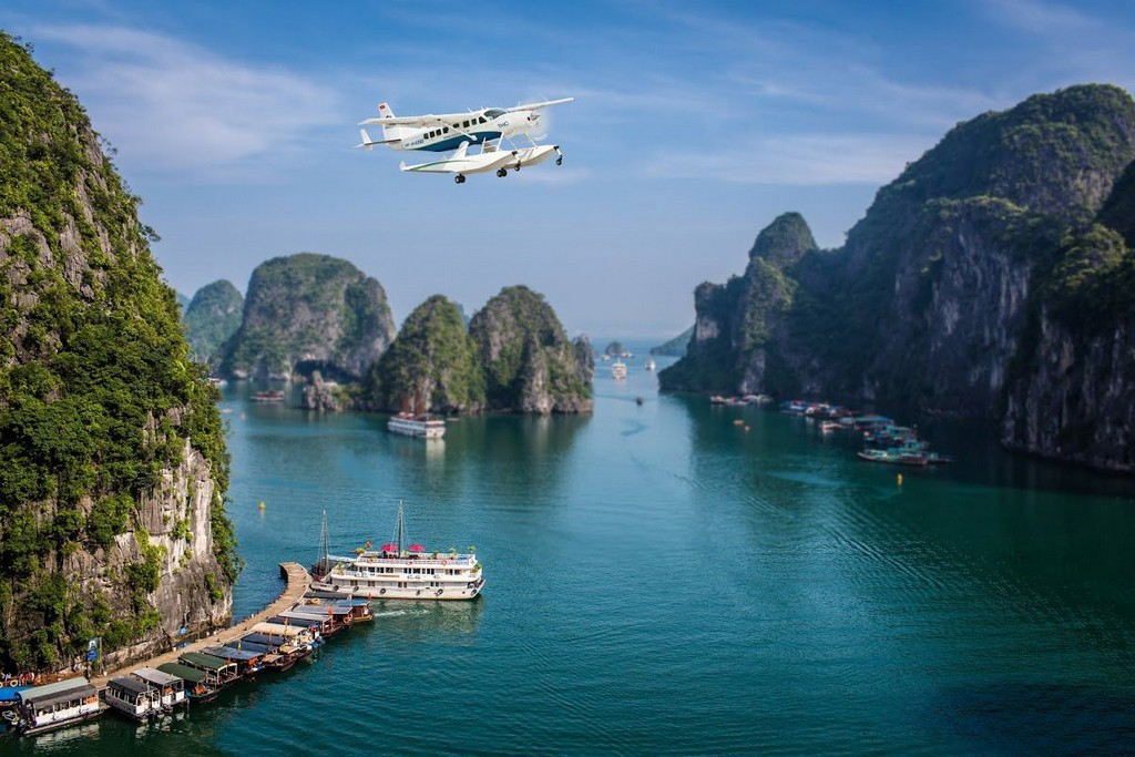 seaplane, halong bay, vietnam