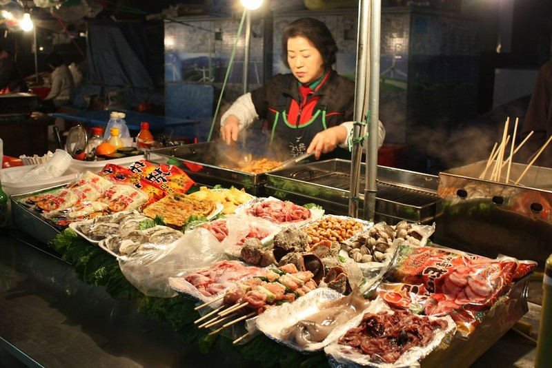 street food, seoul, korea