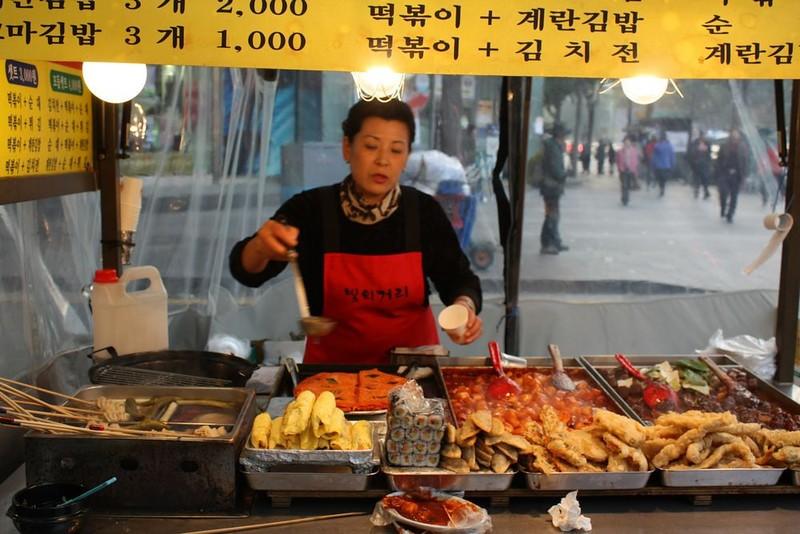 tteokbokki, street food, seoul, korea