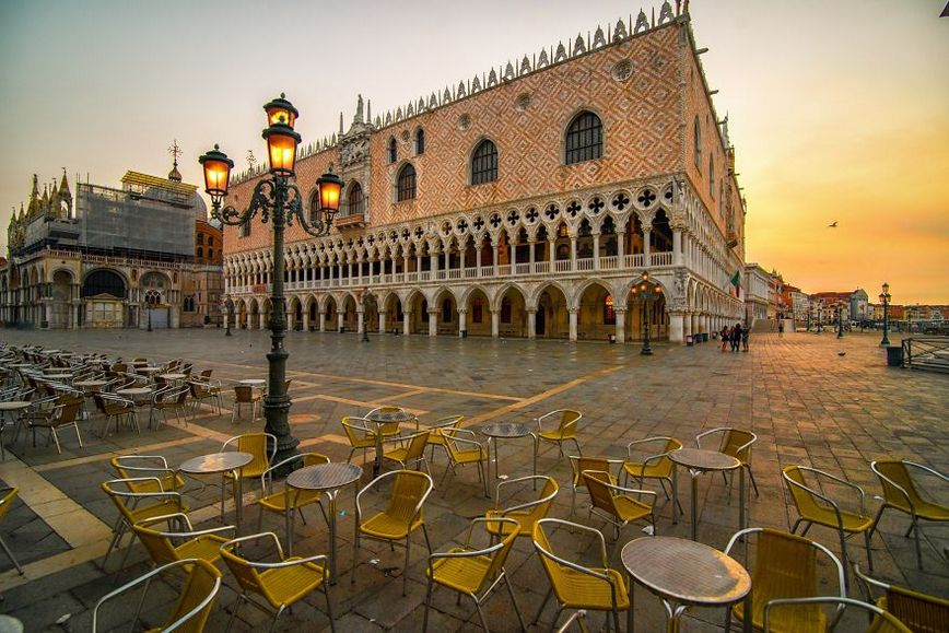 St marks square at dawn