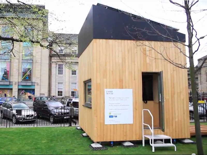 100-square-foot-environmentally-friendly-house, Edinburgh, Scotland, tiny homes