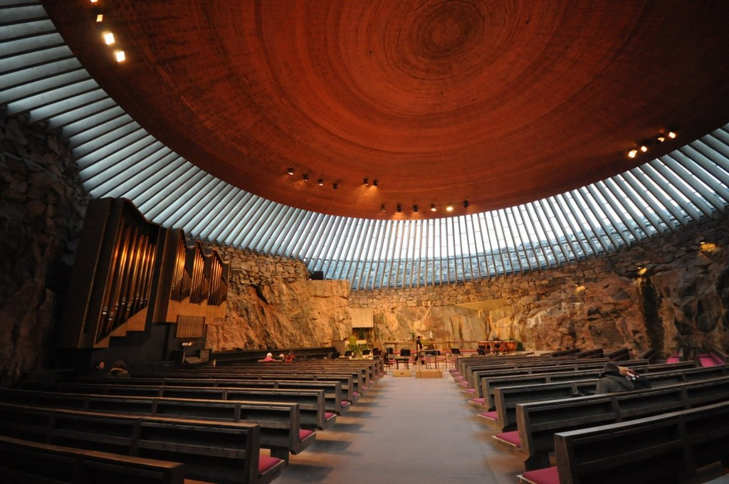 Temppeliaukio Church in Helsinki, architectural masterpieces