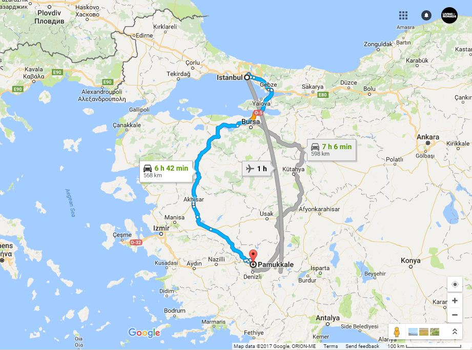 how to get to pamukkale turkey