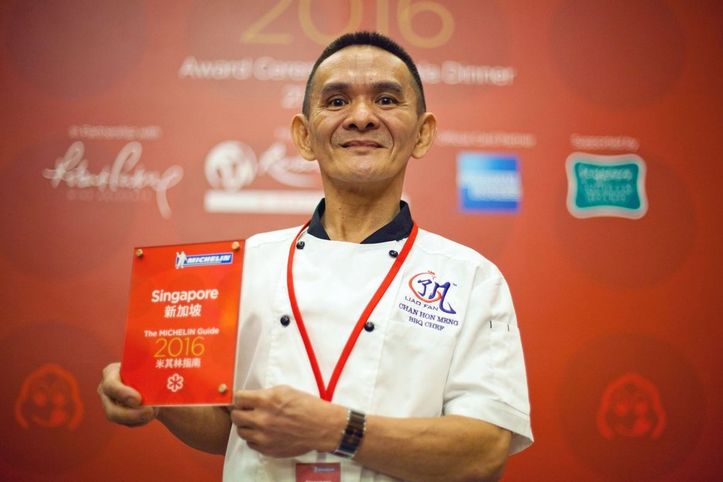 Chan Hon Meng singapore street food vendor awarded a michelin star
