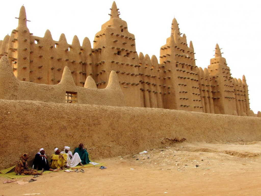 Great Mosque of Djenné in Mali, architectural masterpieces