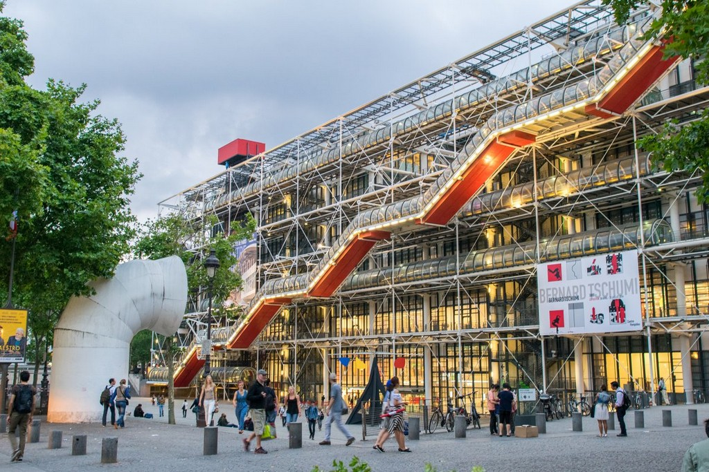Pompidou Center in Paris, architectural masterpieces