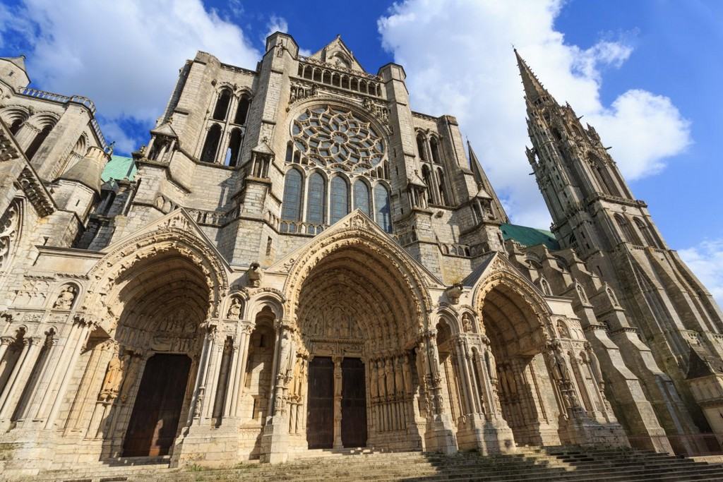Chartes Cathedral in northern France, architectural masterpieces