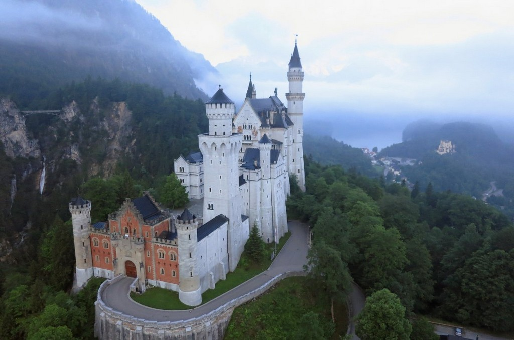 Neuschwanstein Castle in the German state of Bavaria, architectural masterpieces