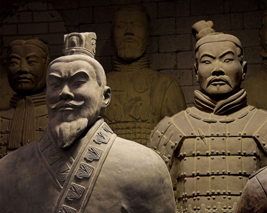 soldiers in qin shi huang tomb