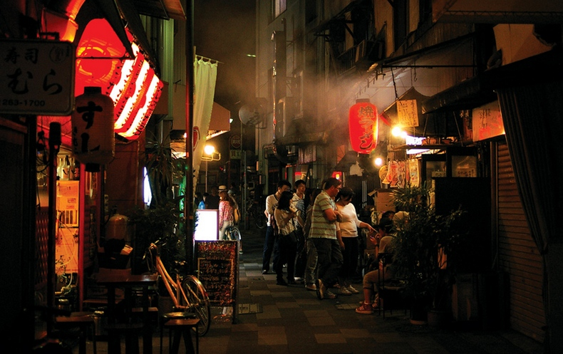 fukuoka japan night street