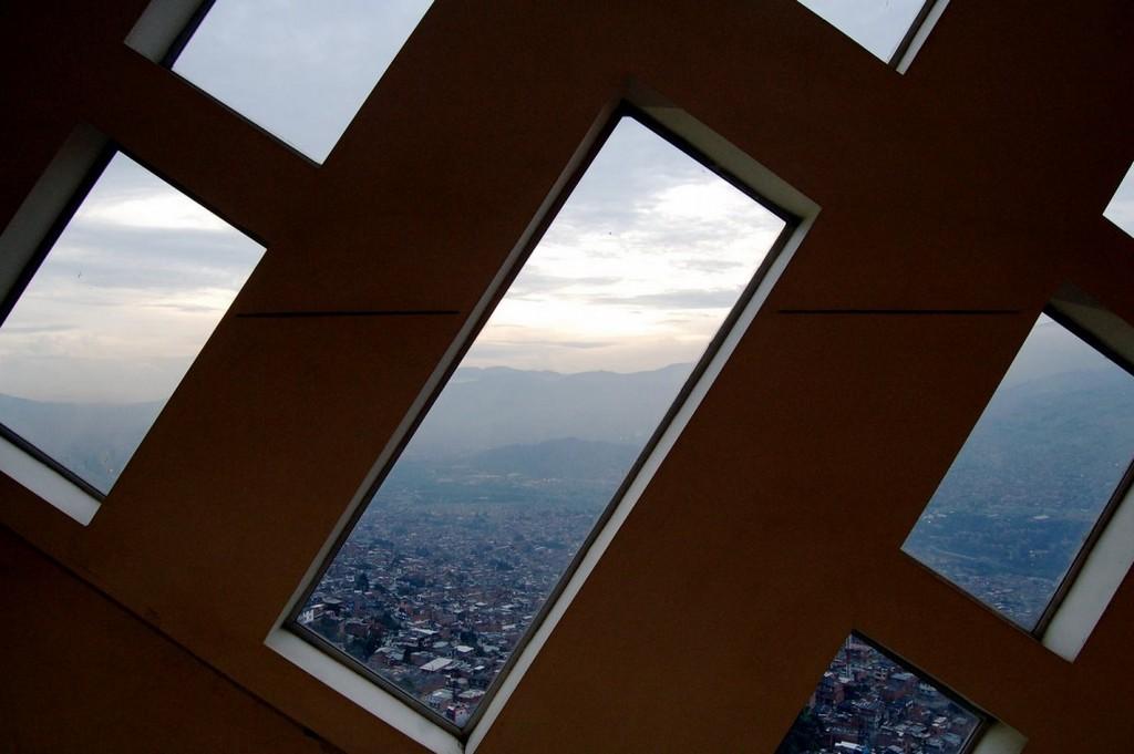 Parque Biblioteca España in Medellín view, Colombia, architectural masterpieces