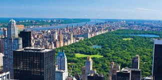 Central Park from above, New York, Us