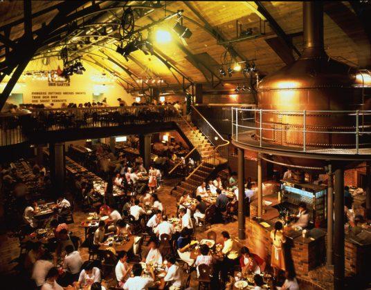 Crowded Genghis Khan Hall, Sapporo Beer Museum, Sapporo, Hokkaido, Japan