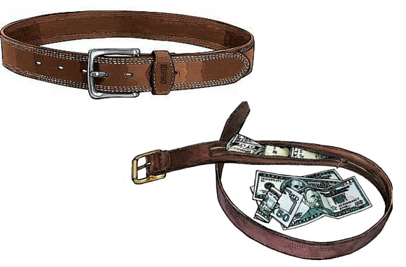 Disguise-Your-Money-Belt tips on how to to keep and hide valueables while travelling