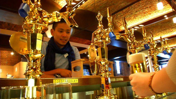 Draft beer at Sapporo Beer Museum, Sapporo, Hokkaido, Japan