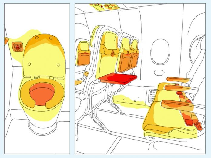 Germs_1 dirtiest places spots on an airplane