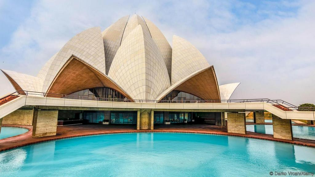 Lotus Temple India most beautiful palces of worship around the world