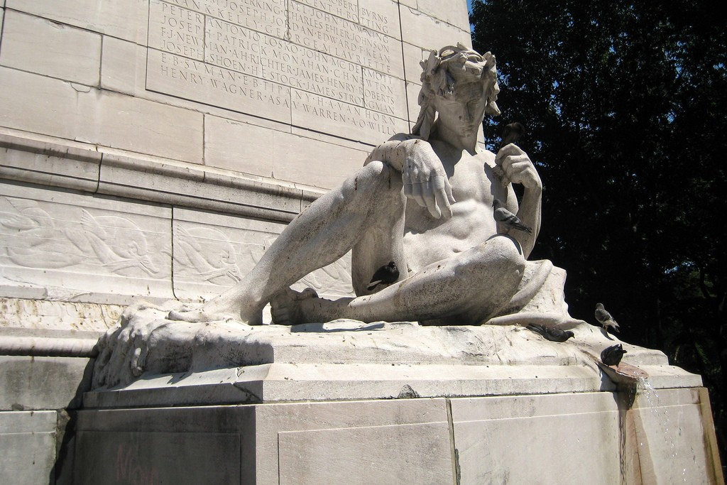Maine Monument, central park, new york, us