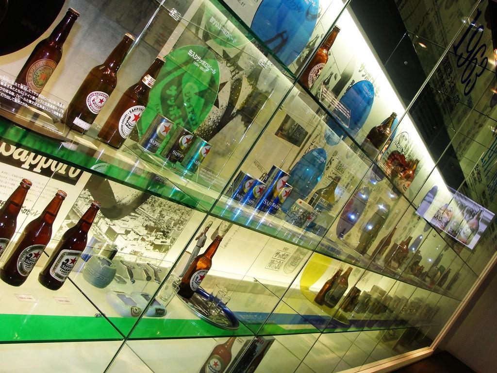 Sapporo-Beer-Museum-Displays, , Sapporo, Hokkaido, japan