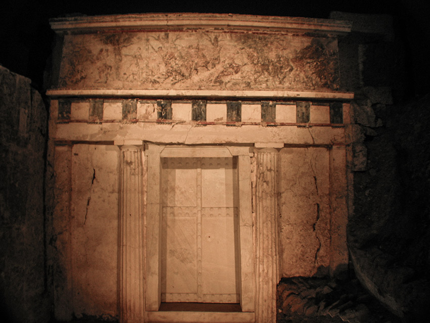 Subterranean entrance to Philip II's tomb at Vergina