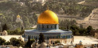 The Dome of the Rock is one of Jerusalem most beautiful palces of worship around the world
