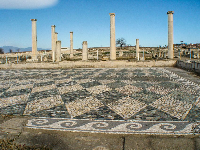 Walking in the footsteps of Alexander the Great's youth on the boulevards, palace steps and ancient agora at Pella