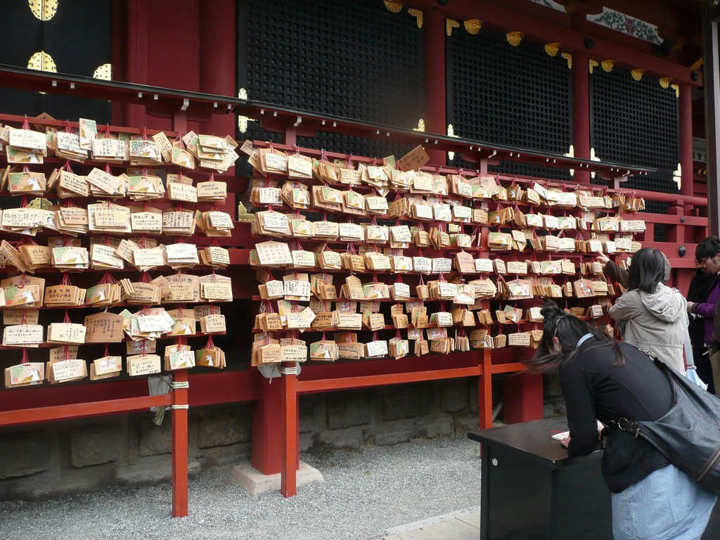 Write an ema, pray at shrines, Japanese shrines, Japan