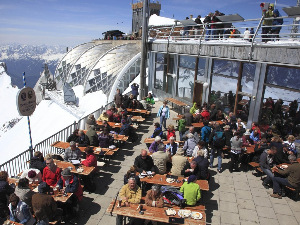 Zugspitze Beer Garden, germany, coolest beer gardens