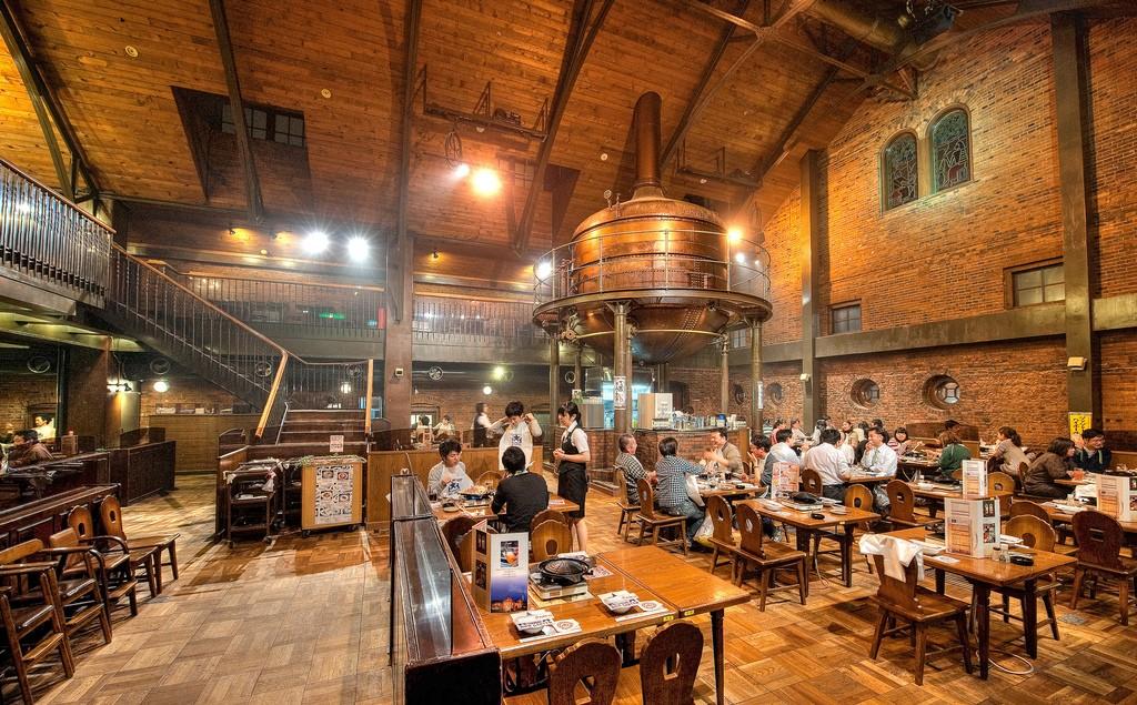 mutton bbq, Genghis Khan Hall, Sapporo, Hokkaido, japan