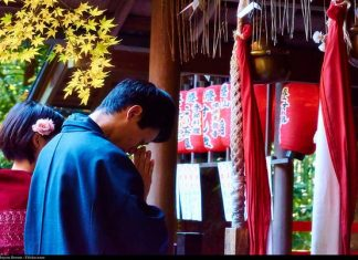 pray at shrines, Japanese shrines, Japan