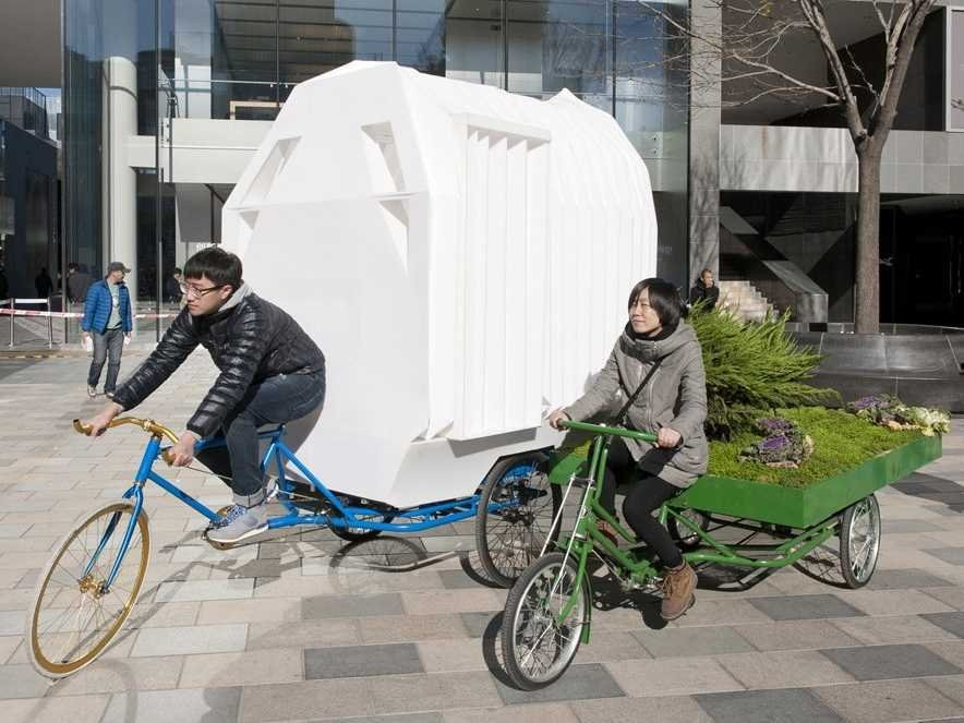 small-home built-on-top-of-a-tricycle, Beijing, china, tiny homes