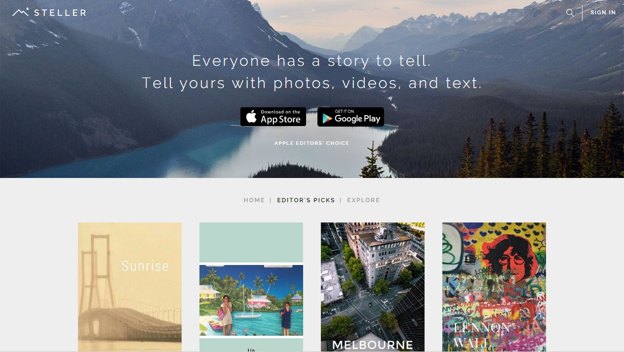 steller website travel