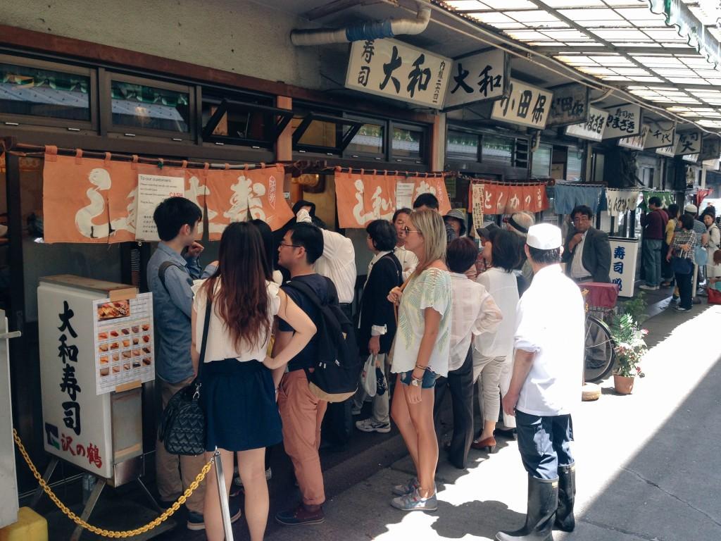 sushi, Tsukiji, tokyo, japan