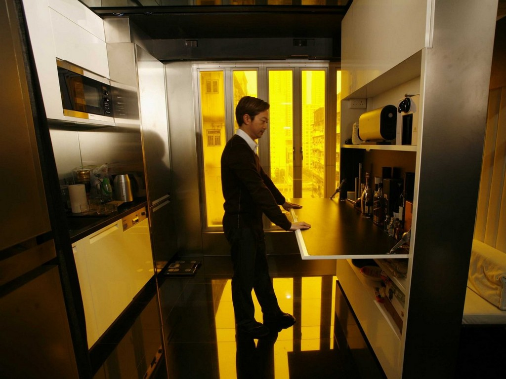 this-330-square-foot-apartment, Hong Kong, tiny homes