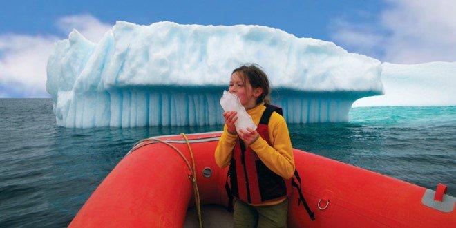 flowing ice Newfoundland Labrador