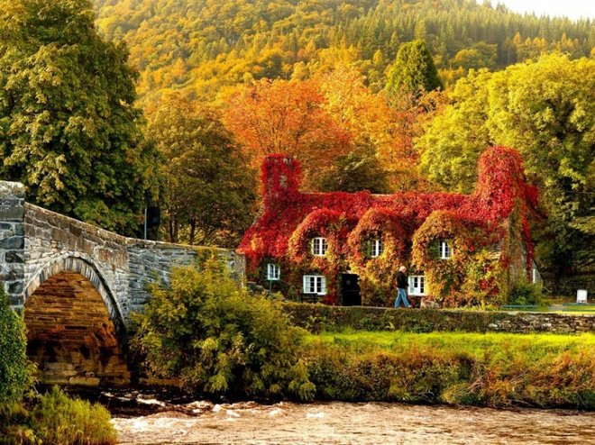 llanrwst wales autumn travel photos
