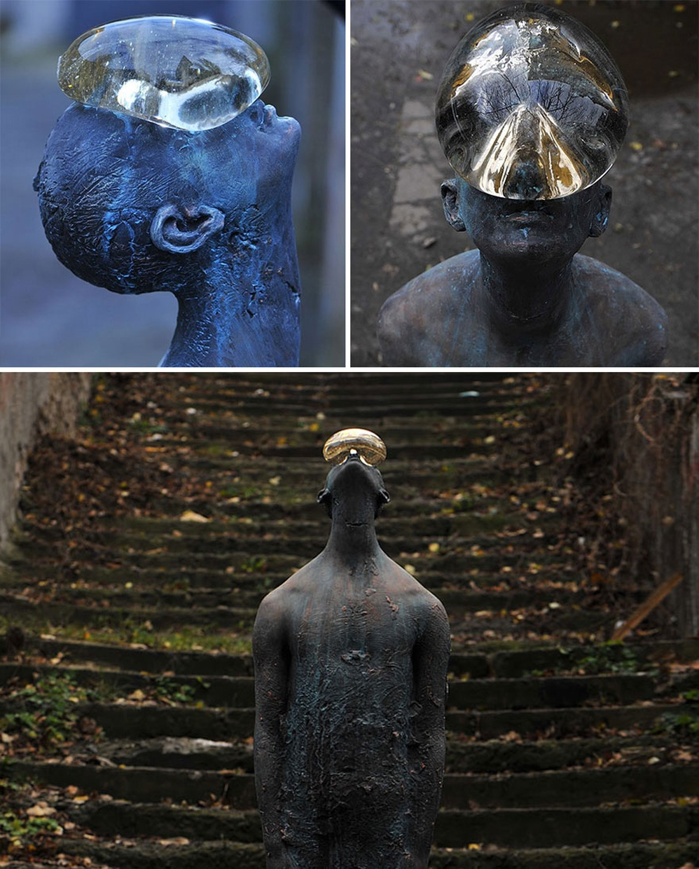 Raindrop statue-Nazar Bilyk Raindrop - Ukraine -most creative sculpture around the world