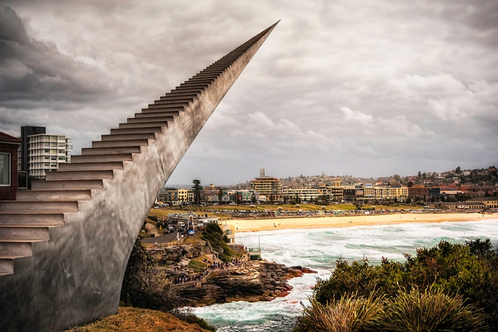 Staircase statue-Bondi, Australia-best creative sculpture in the world