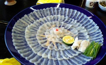 Fugu (pufferfish), Obama City kobe beef kansai region cuisine japan 2