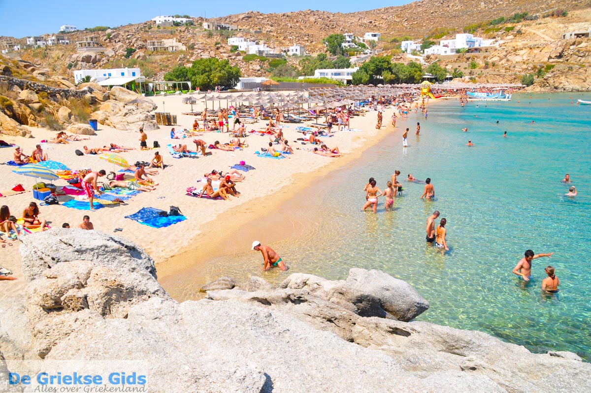 Paradise beach in Mykonos Greece 2
