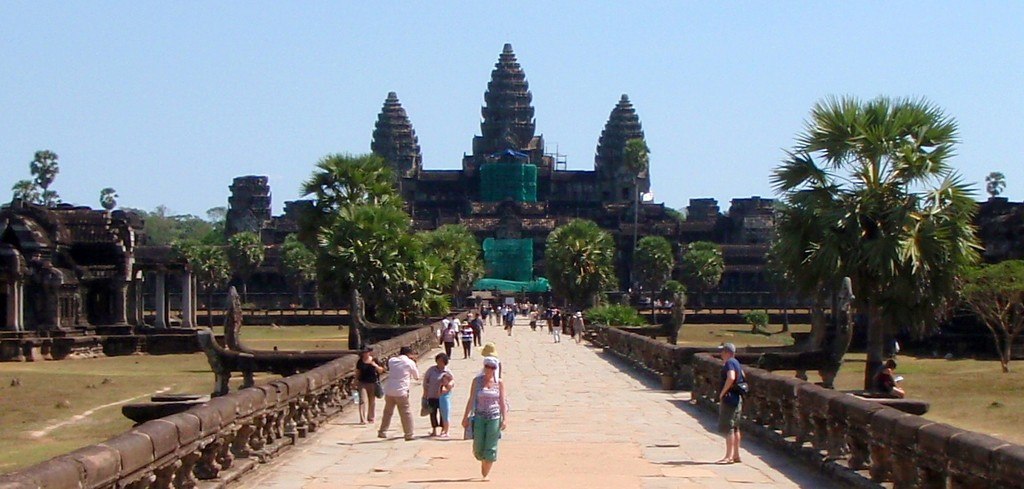 Angkor Wat - Once you get in the main entrance this is the long path to the temple