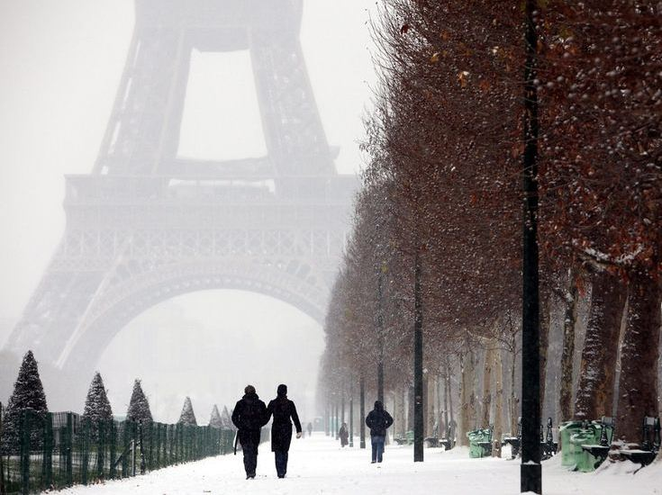 one day in paris in winter